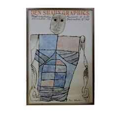 Ben Shahn Lithographic exhibition poster from 1967 Phila Museum