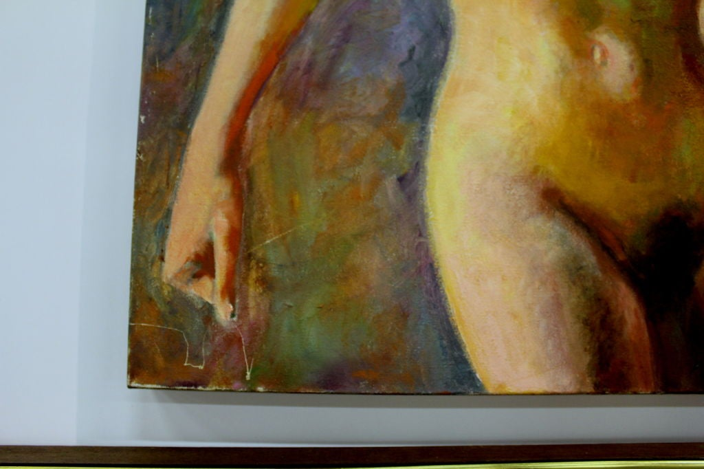 Nice Nude Oil on Canvas Signed Mautner 4