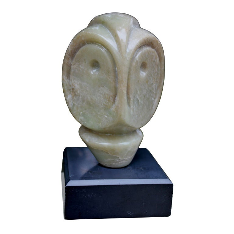 Inuit or eskimo carving of an owl monogrammed at stdibs