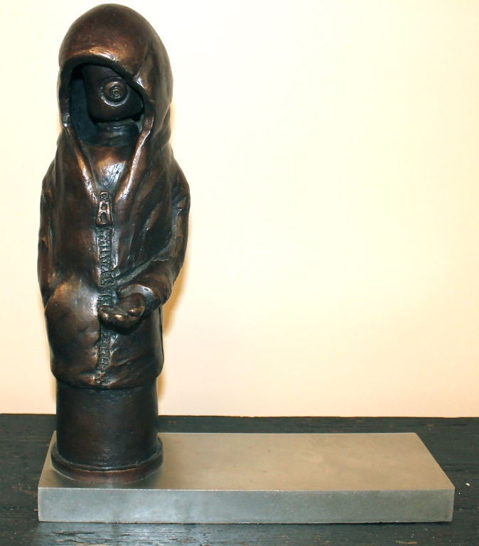 "Bronze by Newburgh Artist Ivan Palmer Titled ""3 AM"" 2"