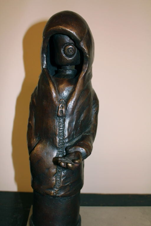 "Bronze by Newburgh Artist Ivan Palmer Titled ""3 AM"" 3"