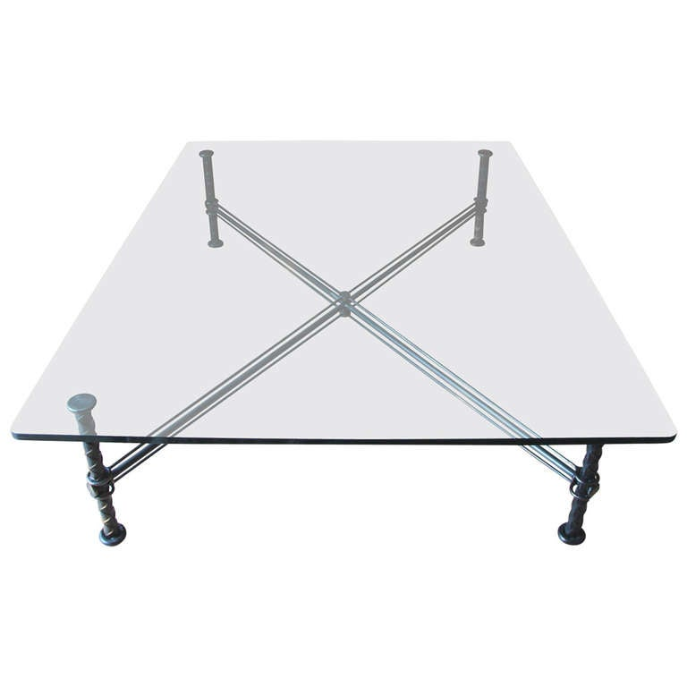 Ilana goor large glass coffee table for sale at 1stdibs for Large glass coffee table