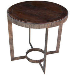 Gregorius Pineo Iron and Wood Side Table