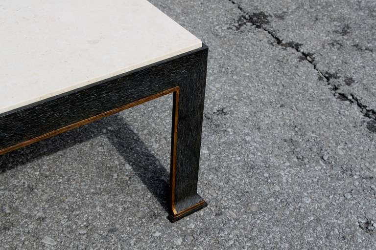 formations Iron and Travertine Coffee Table 1