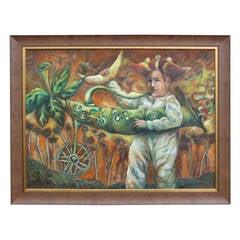 "Pedro Roig Bueno ""El Rapto"" Painting"