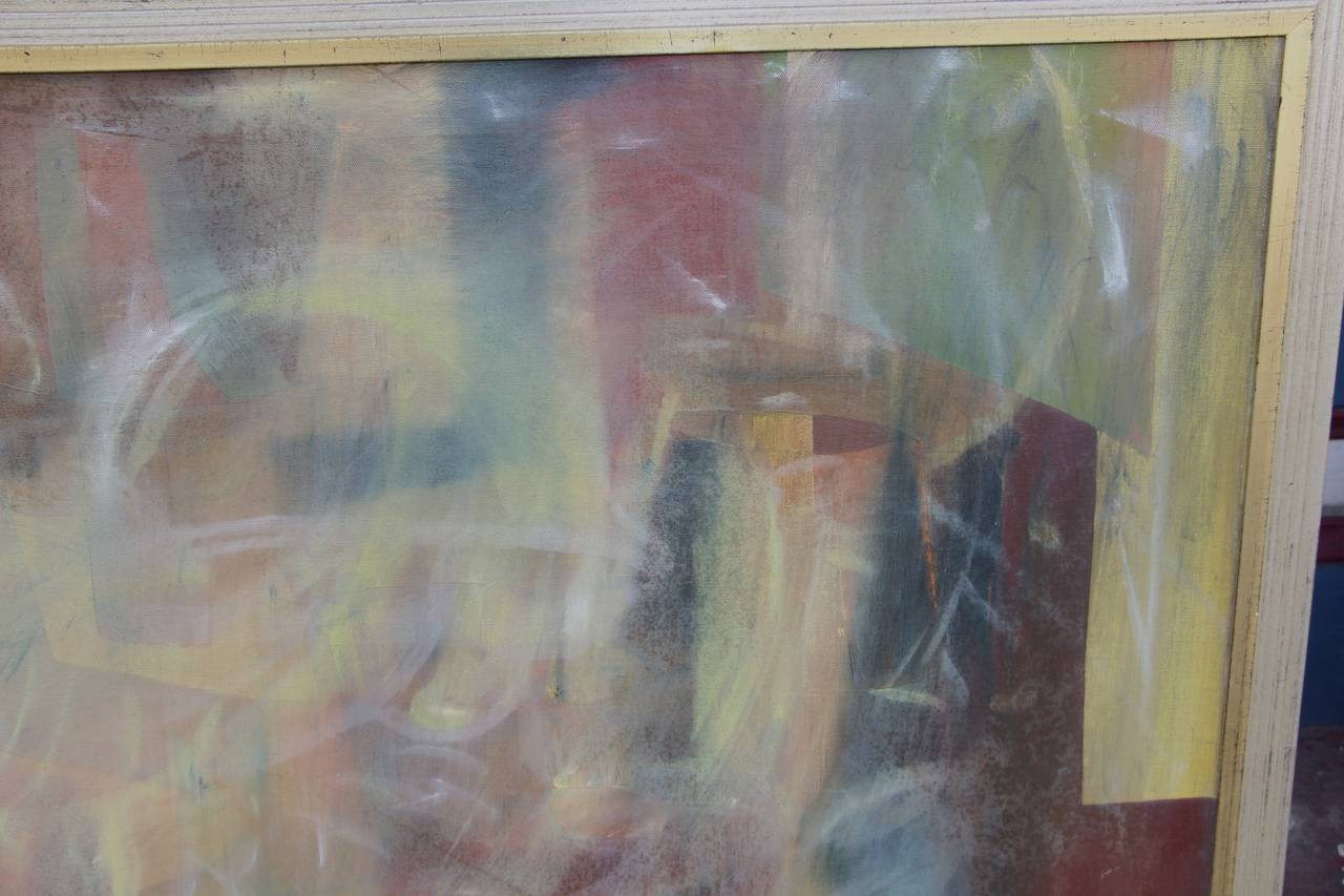 Abstract on Canvas in New Frame In Excellent Condition For Sale In Palm Springs, CA