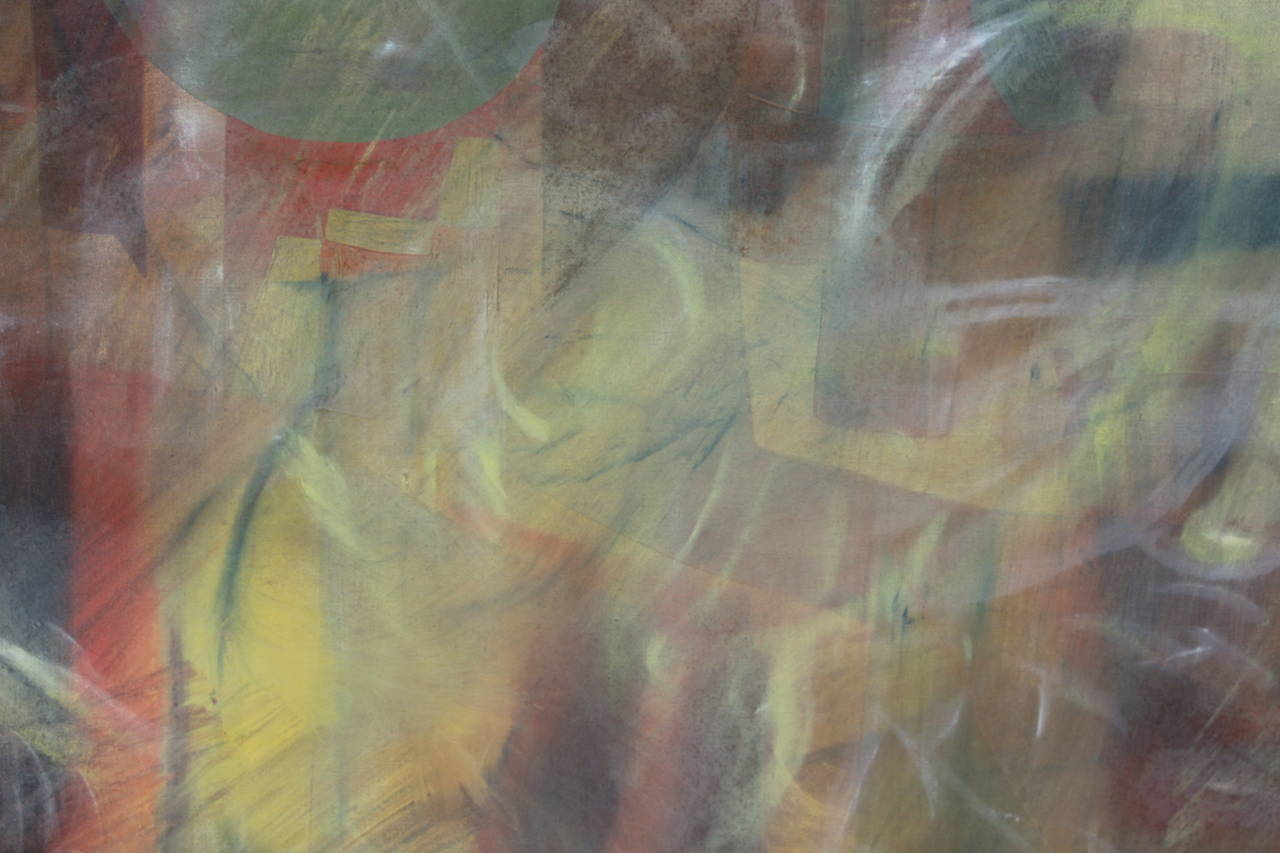 Unknown Abstract on Canvas in New Frame For Sale