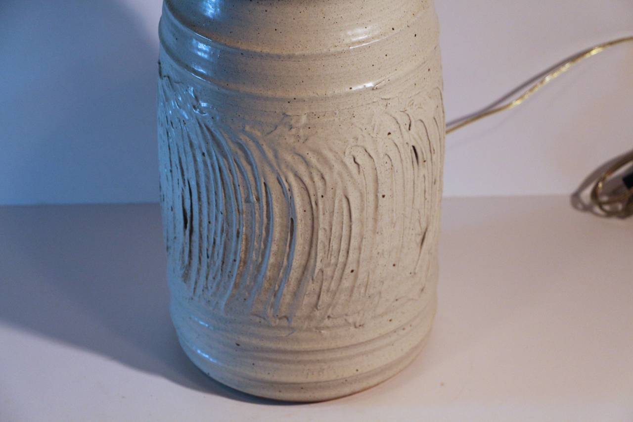 Unknown Large Impressive 1960s Pottery Lamp For Sale