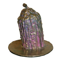 """Beautifully Patinated and Detailed Bronze Ivan Palmer """"No Voice"""""""