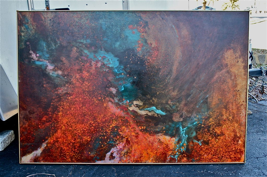 Large abstract by Gloria Rosenthal titled Solar Wind 2