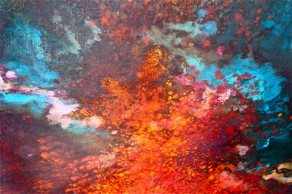 Large abstract by Gloria Rosenthal titled Solar Wind 3