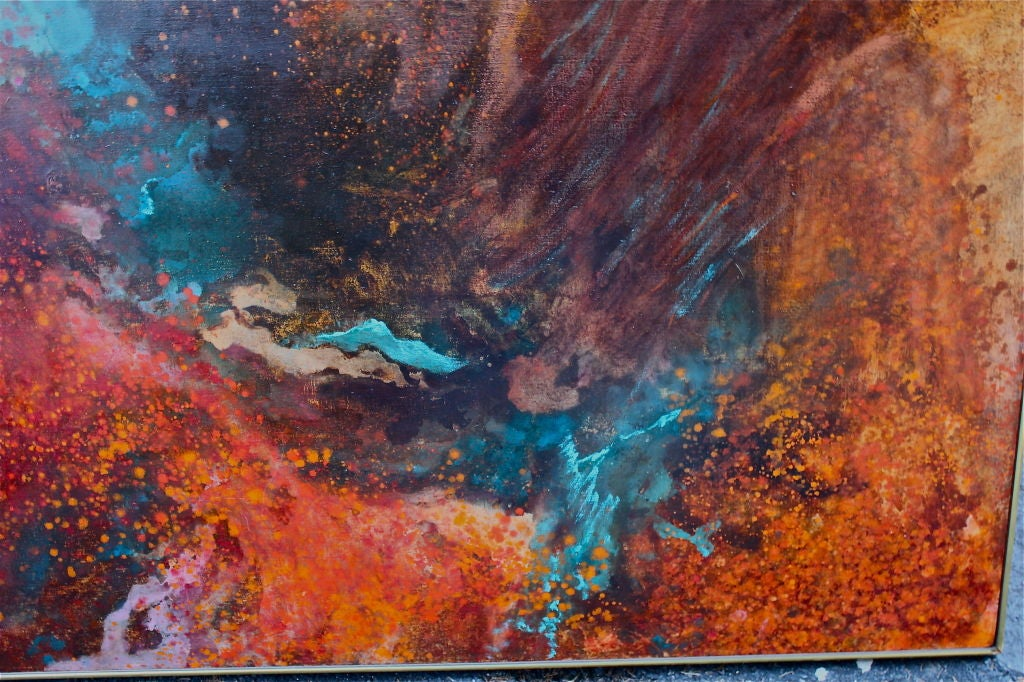 Large abstract by Gloria Rosenthal titled Solar Wind 6
