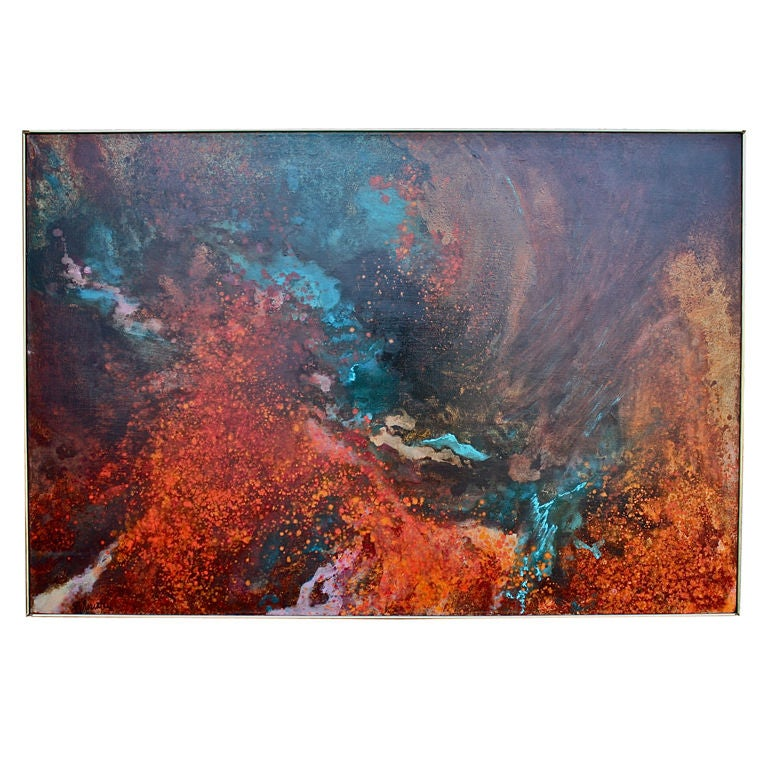 Large abstract by Gloria Rosenthal titled Solar Wind 1
