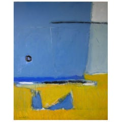 """Large abstract by noted artist Victor Mirabelli """"Southhampton"""""""