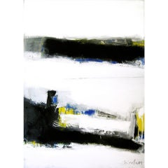 """Vibrant Large Abstract by Victor Mirabelli titled """"The Crossing"""""""