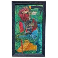 Nice heavy 1960's impasto abstract oil on canvas