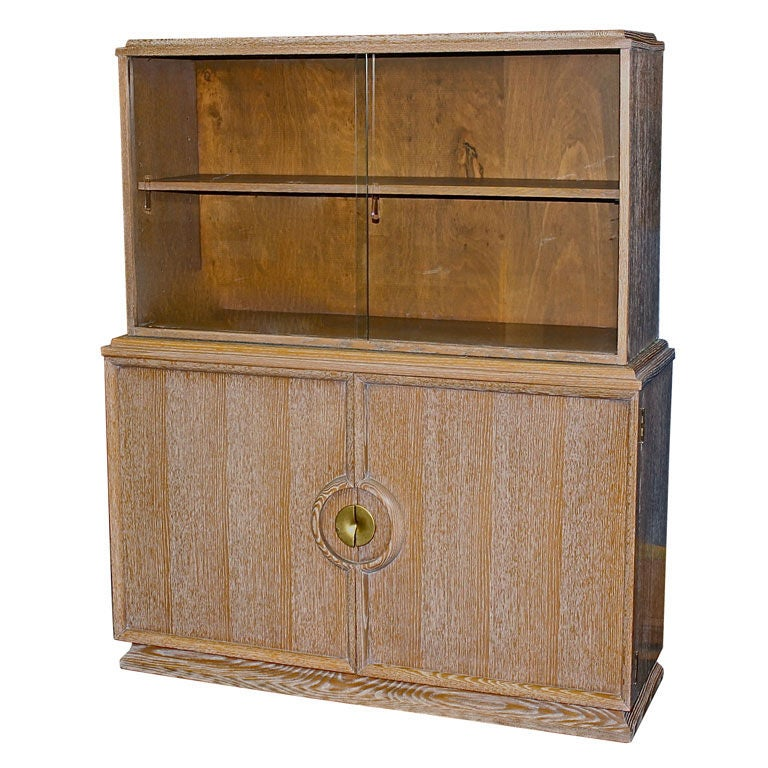 Cerused Oak Kitchen Cabinets Gorgeous Cerused Oak Kitchen: Paul Laszlo Cerused Oak 2 Part Cabinet At 1stdibs