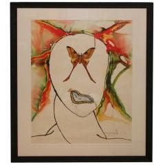 1973 Salvador Dali lithograph Kabuki Signed and numbered 150/200