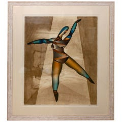 """Neal Doty Serigraph Print """"Dancer"""" Signed and Numbered"""