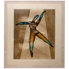 "Neal Doty Serigraph Print ""Dancer"" Signed and Numbered"