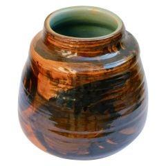 Fish motif glazed pottery by noted artist Odile Frachet
