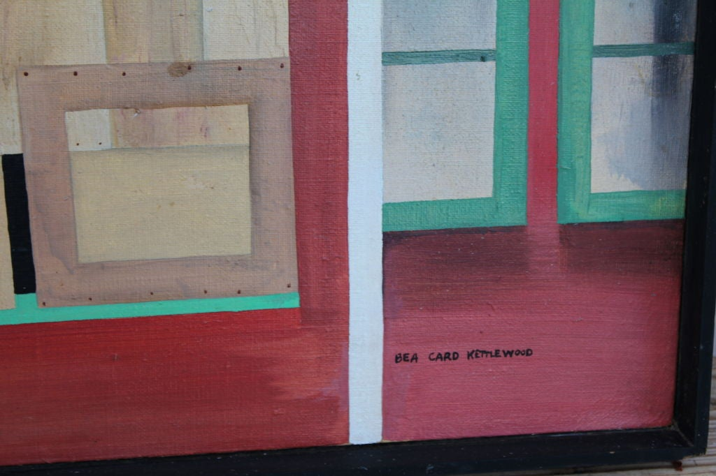 Late 20th Century Oil on canvas Bea Kettlewood NJ artist For Sale