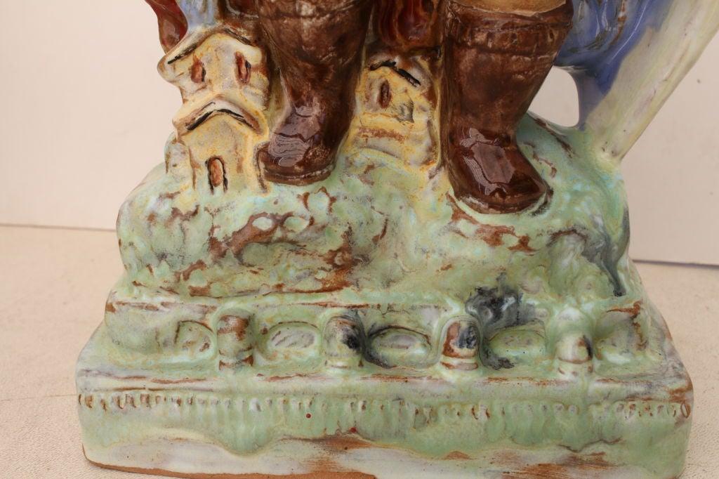 Austrian Secessionist Terracotta Figure Signed 4