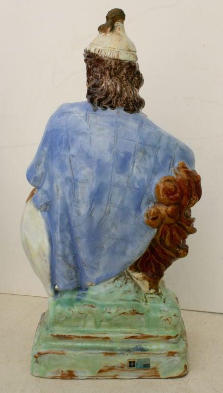 Austrian Secessionist Terracotta Figure Signed 5