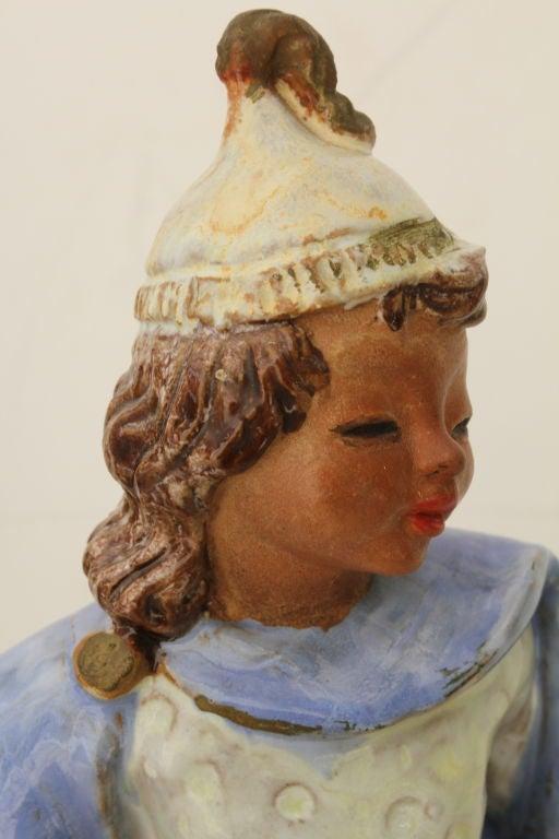 Austrian Secessionist Terracotta Figure Signed 9