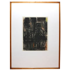 Mixed media on paper by Frederick Franck dated 1958