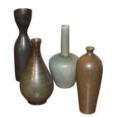 4 small cabinet vases including 2 by Carl Stalhane for Rorstrand