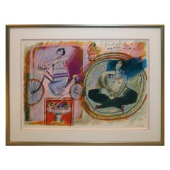 Lithograph proof by noted French/Israeli artist Theo Tobiasse