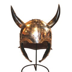 Viking helmet movie set prop