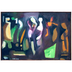Abstract by Arnold Weber dated 1966