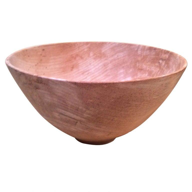 Gene Pozzesi Hand Turned Elegant Wood Bowl