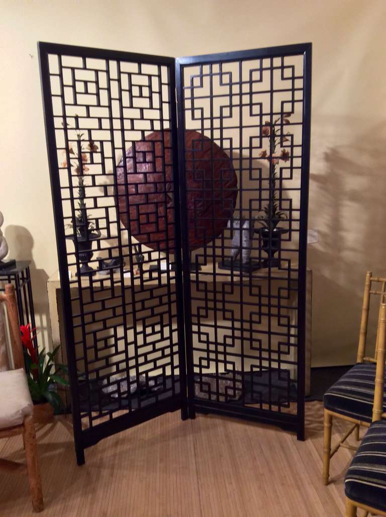 Asian Wood Screen 24