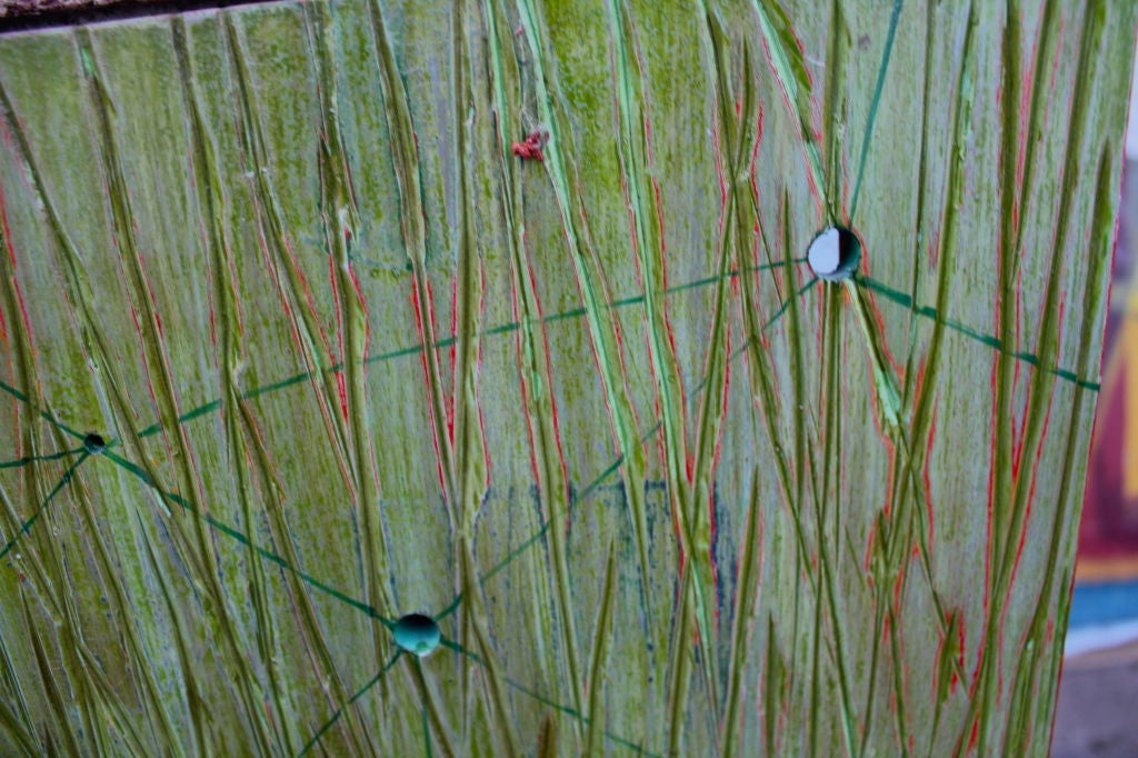 20th Century Abstract on Wood by Noted Los Angeles Artist Dawn Arrowsmith For Sale
