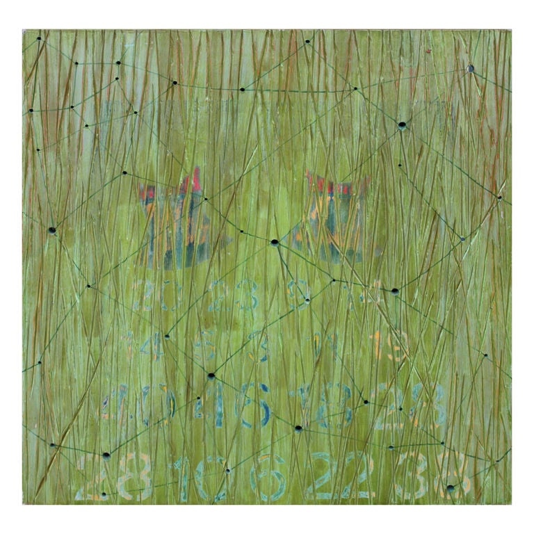 Abstract on Wood by Noted Los Angeles Artist Dawn Arrowsmith
