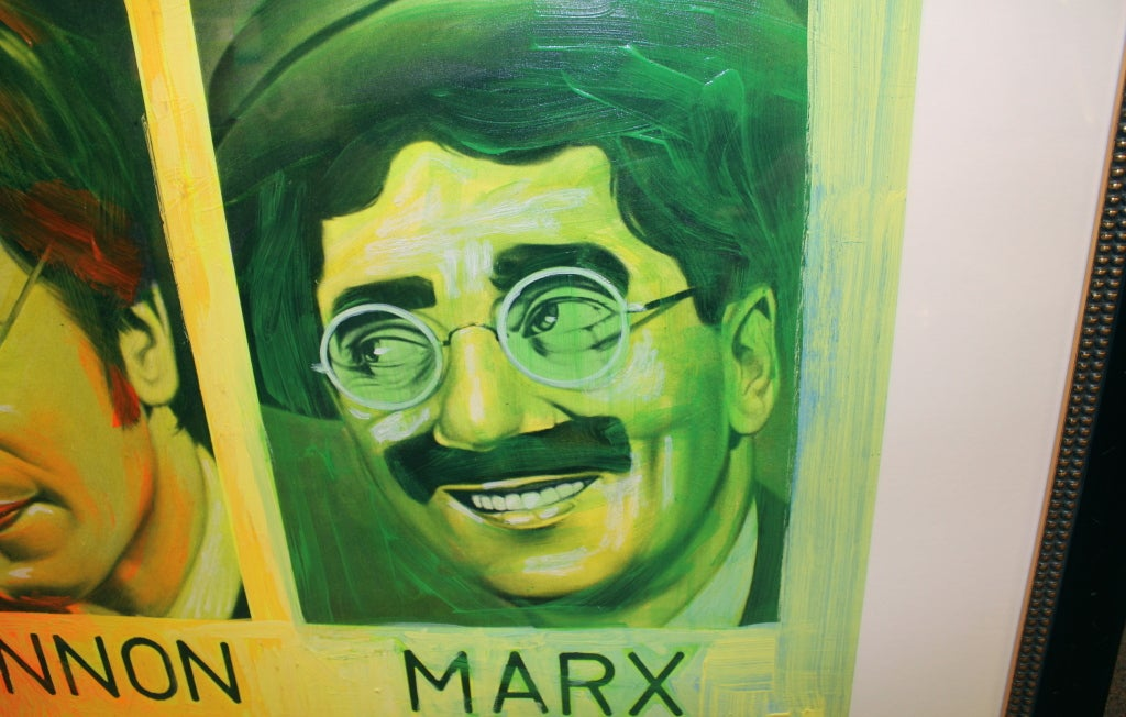 Painted Silkscreen of John Lennon & Groucho Marx by Ron English For Sale 1