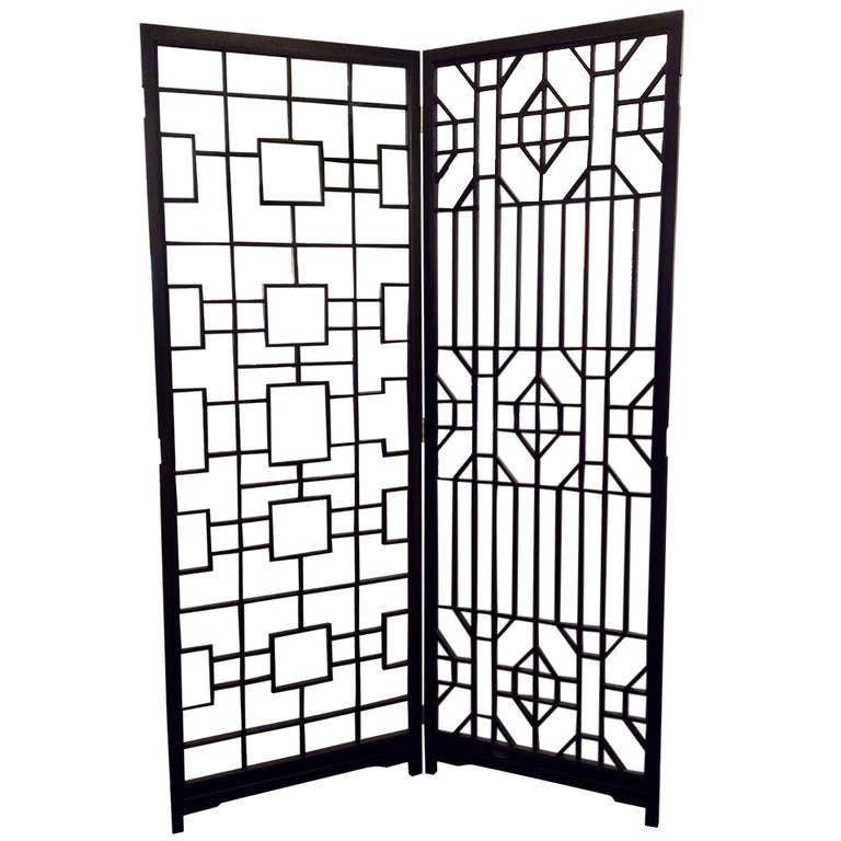 Geometric Asian Style Room Divider at 1stdibs