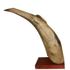 Elegant Exotic 1960s Wood Sculpture
