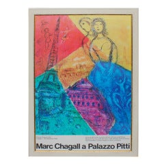 Chagall Exhibition Poster for a Pitti Palace Exhibition, 1978