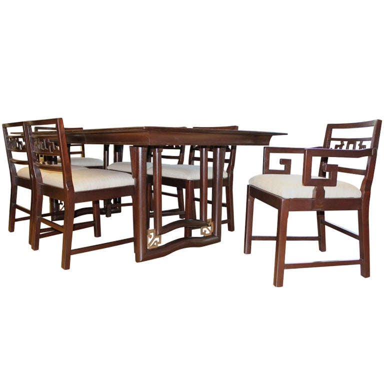 Stratford House Dining Room Set Figural Chairs At 1stdibs