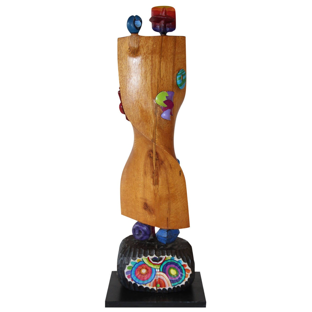 Whimsical Wood Sculpture by Noted NJ Artist Fred Schumm For Sale