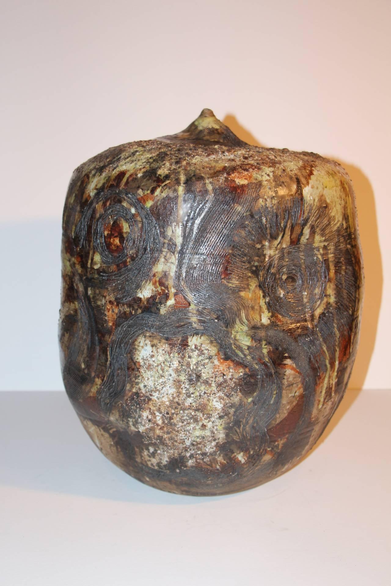 Monumental Ceramic Vase By J David Broudo At 1stdibs