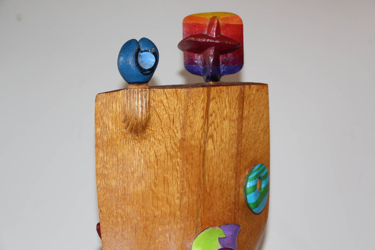 Whimsical Wood Sculpture by Noted NJ Artist Fred Schumm For Sale 2