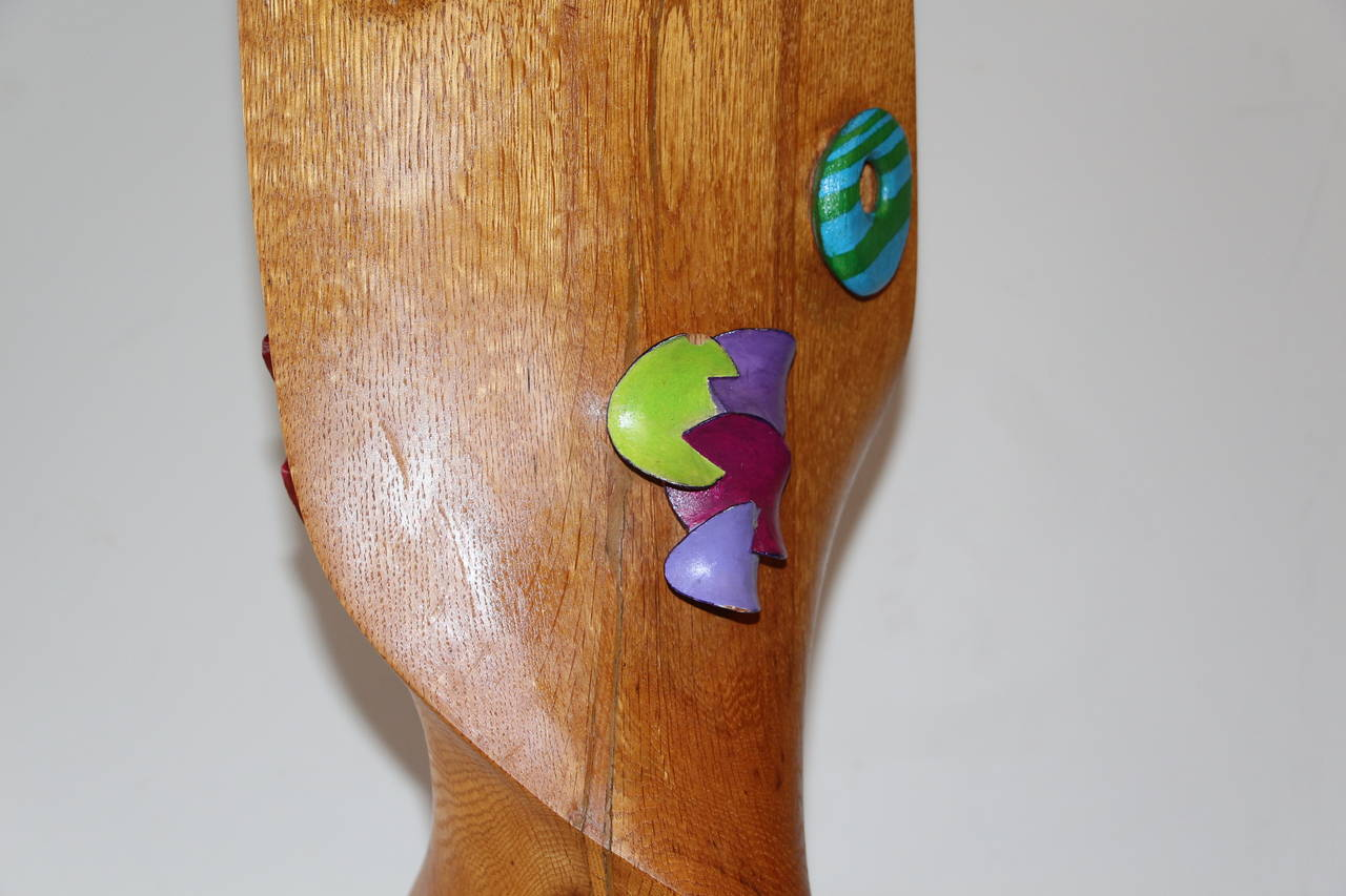 20th Century Whimsical Wood Sculpture by Noted NJ Artist Fred Schumm For Sale