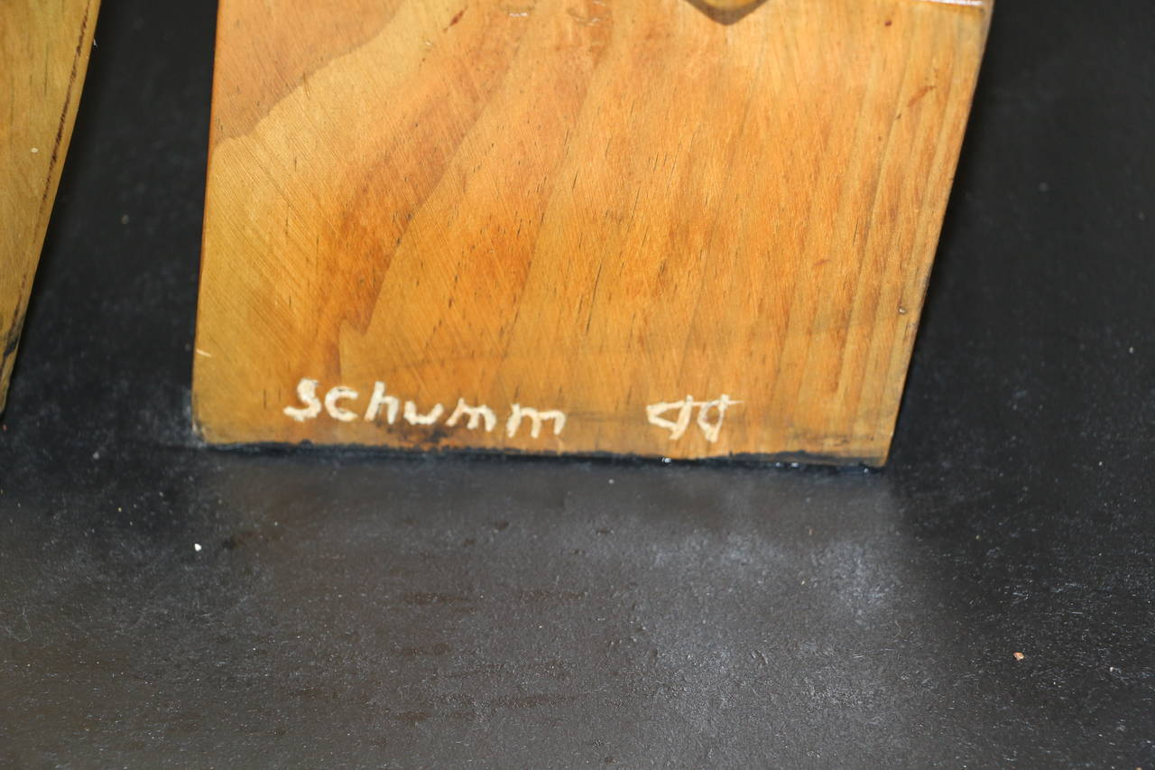 Whimsical Wood Sculpture by Noted Artist Fred Schumm For Sale 2