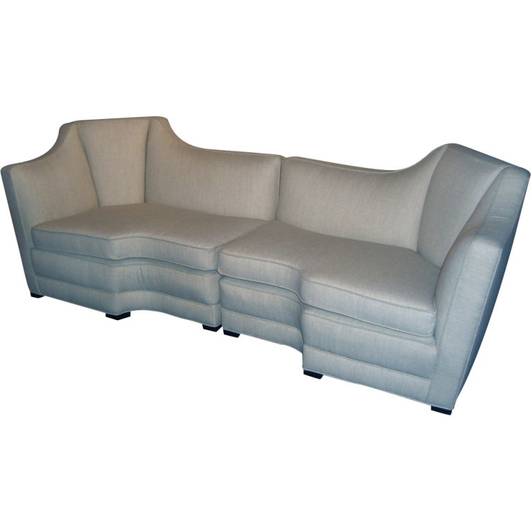 Custom Made 1940 39 S Elegant 2 Part Sofa At 1stdibs