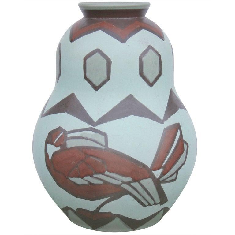Villeroy And Boch Bird Motif Vase For Sale At 1stdibs